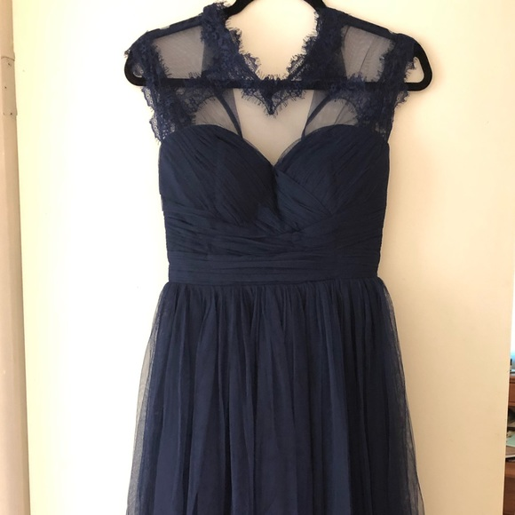 Modcloth Dresses & Skirts - ModCloth Geode Fit and Flare Navy Blue Dress